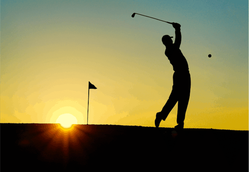 Why Moms Should Go On Strike - Man golfing