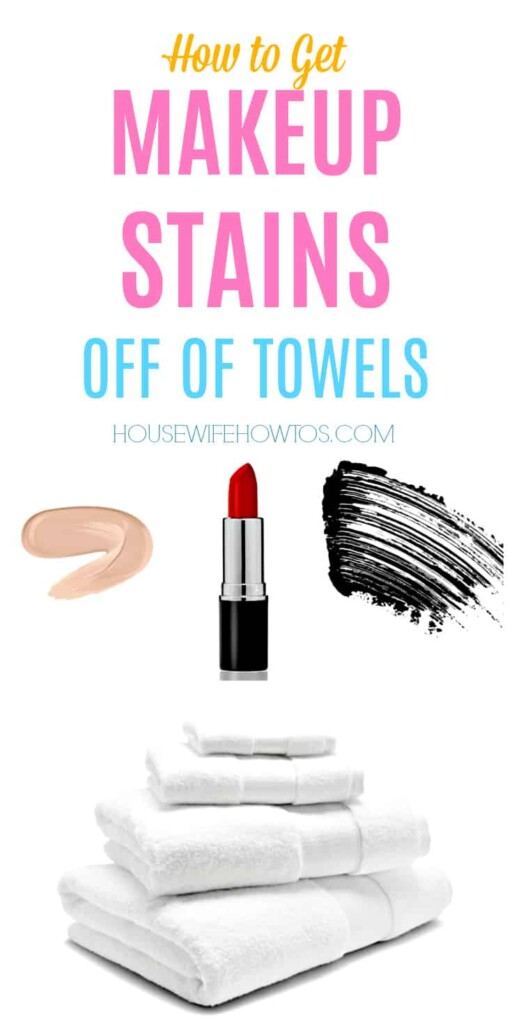 How to get Makeup Stains off of Towels #stains #stainremoval #laundryhacks #makeupstains #foundation #mascara #lipstick