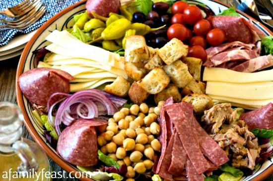 10 Salad Recipes Perfect for Summer - Antipasto Salad from  A Family Feast