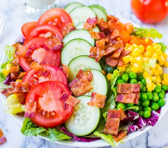 10 Salad Recipes Perfect for Summer - BLT Chopped Salad from  Averie Cooks
