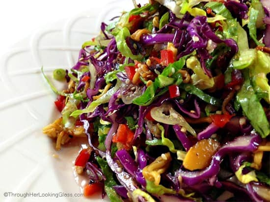 10 Salad Recipes Perfect for Summer - Crunchy Asian Salad from Through Her Looking Glass