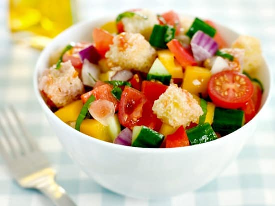 10 Salad Recipes Perfect for Summer - Panzanella Salad from HousewifeHowTos