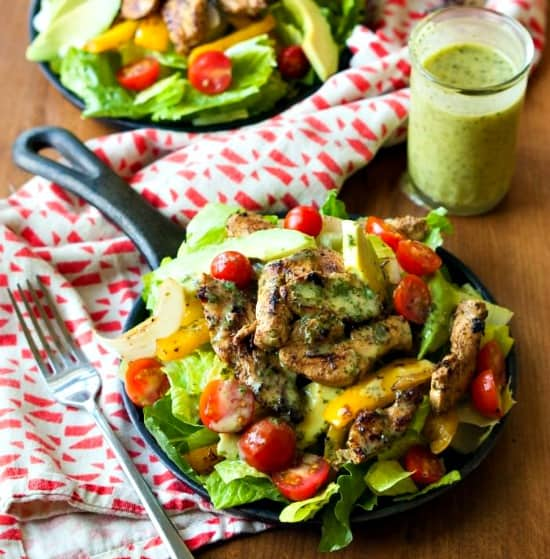 10 Salad Recipes Perfect for Summer - Sizzling Cilantro Lime Fajita Salad from My Natural Family