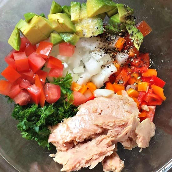 10 Salad Recipes Perfect for Summer - Tuna Salad with No Mayo from Oh Thats Tasty
