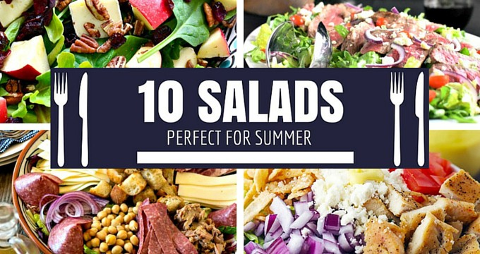 10 Salad Recipes Perfect for Summer via HousewifeHowTos
