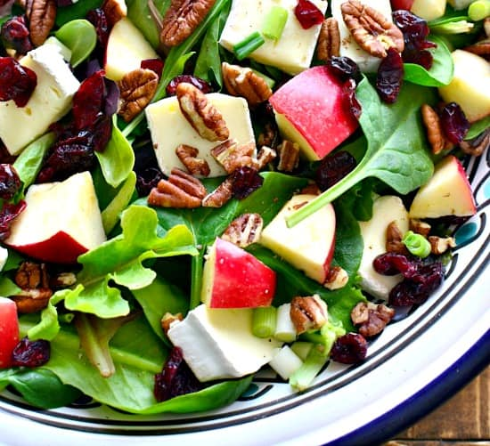 10 Salads Perfect for Summer - Apple Brie Walnut Salad from Lemontree Dwelling