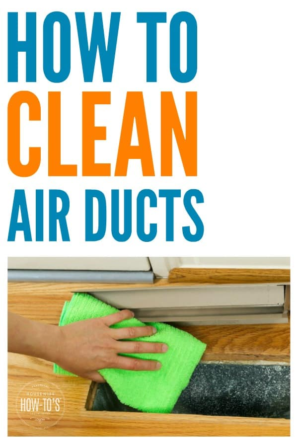 How to Clean Your Air Ducts - Reduce dust, pollen, and other allergens. #dust #allergens #allergies #dustallergies #dustmites #mold #mildew #dusty #dustyhouse #cleaning #deepcleaning #springcleaning #airducts #airquality #indoorairquality #housewifehowtos #homemaintenance #householdchore #housework #householdhint #householdtip #householdhints #householdtips #cleaninghack #diy