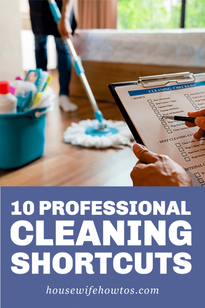 10 Professional Cleaning Shortcuts
