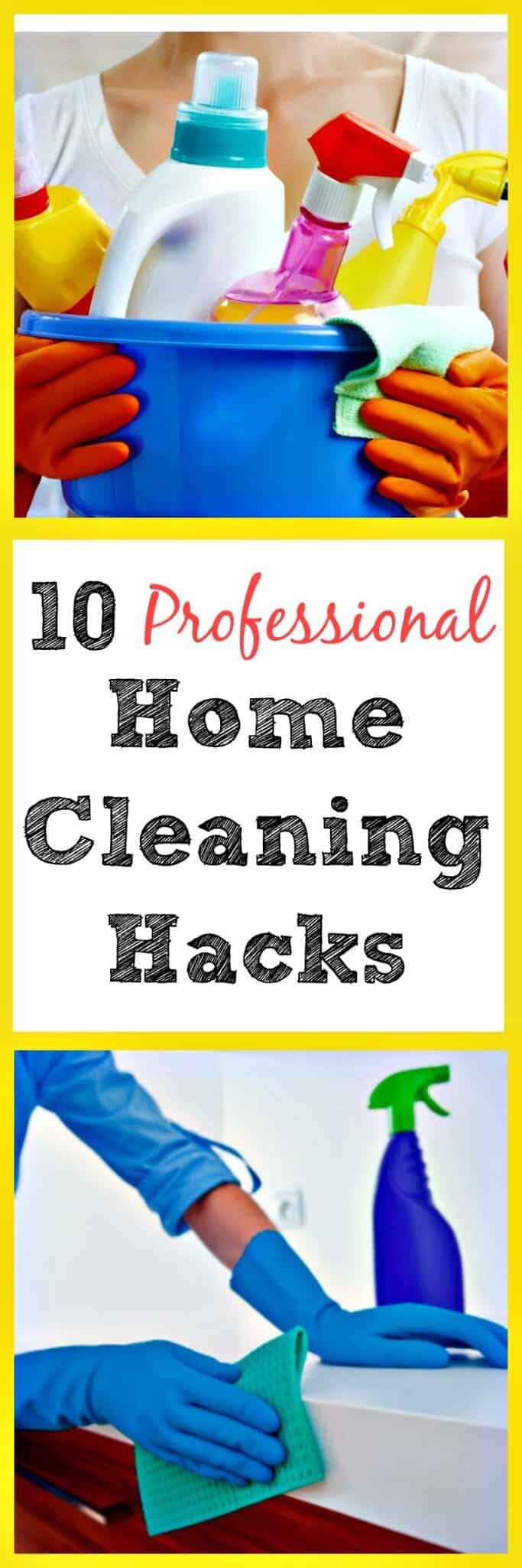 10 Professional Home Cleaning Hacks - These are so clever! | via @HousewifeHowTos