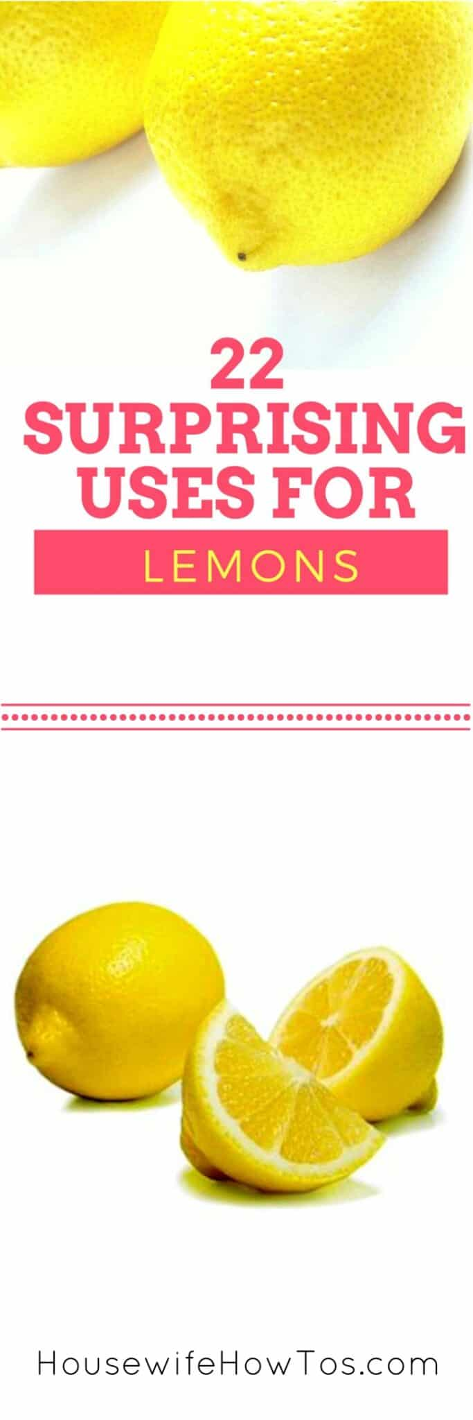 22 Surprising Uses For Lemons - These are so clever! | via HousewifeHowTos.com