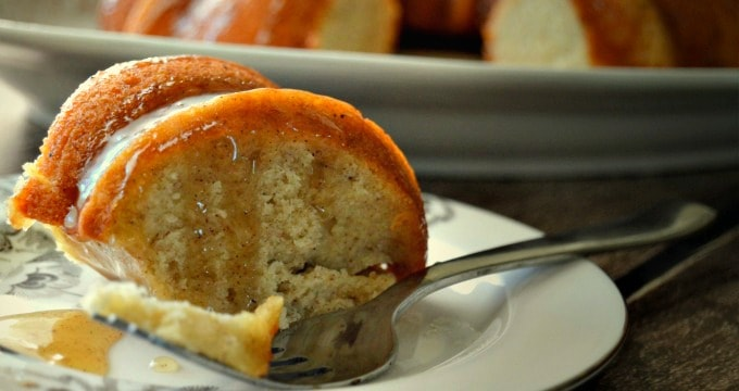 Banana Bundt Cake with Caramel Sauce - It is perfect served on its own