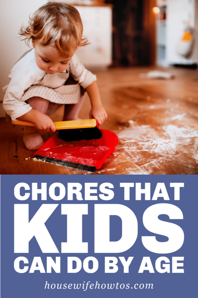 Chores that Kids Can Do By Age Chart