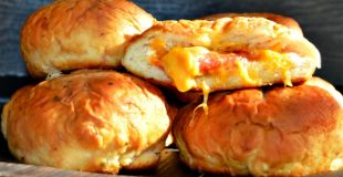 Pizza Stuffed Pretzel Buns