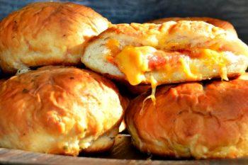 Pizza Stuffed Pretzel Buns