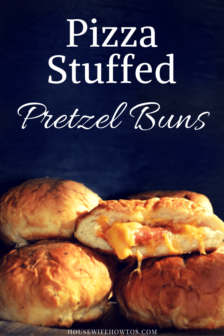 Pizza Stuffed Pretzel Buns - Oh my goodness these are good!