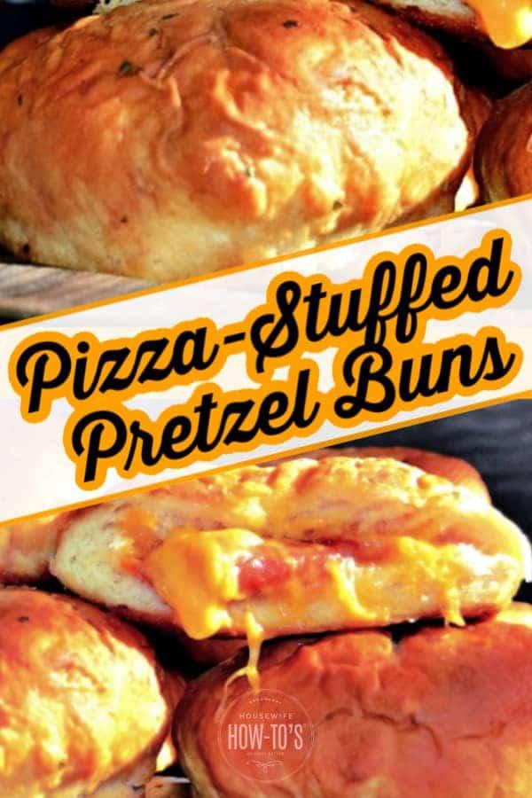 Pizza Stuffed Pretzel Buns Recipe