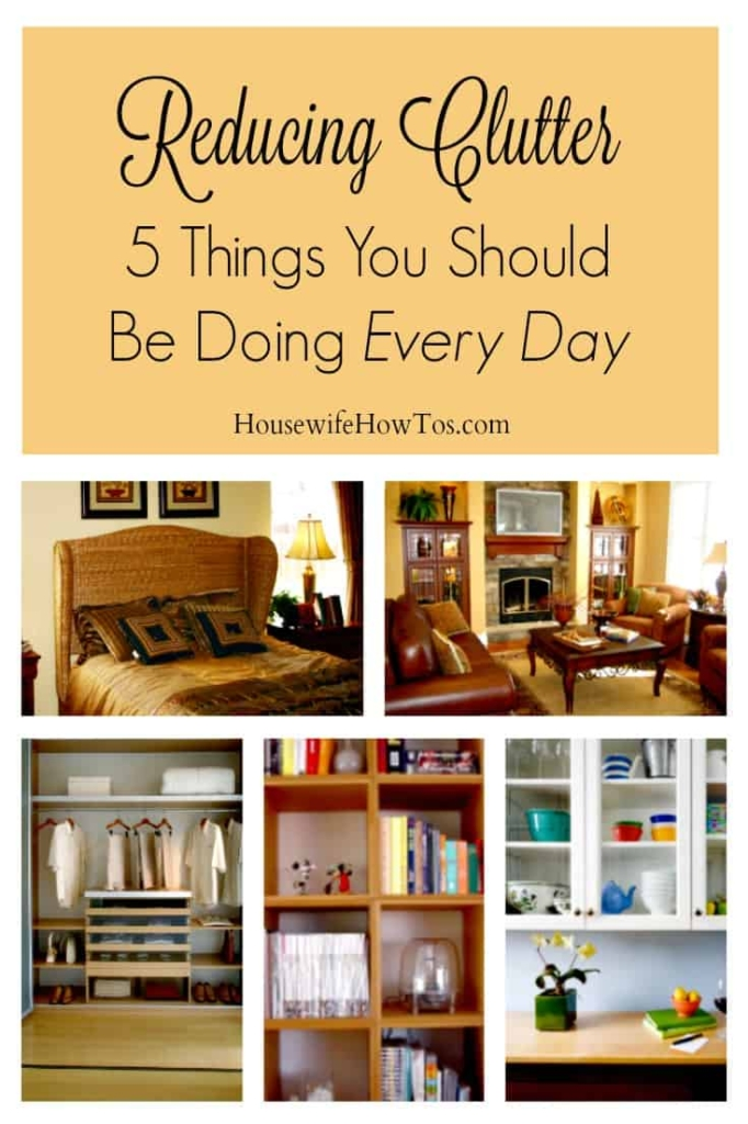 Reducing Clutter - This is a totally different and stress-free way to look at decluttering!
