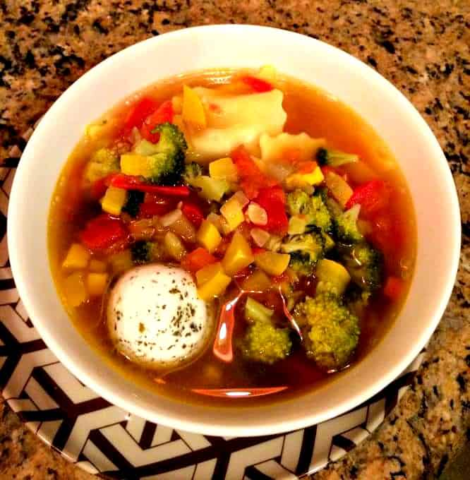 Dinners for the Lazy, Frugal Cook - Minestrone with Ravioli and Goat Cheese