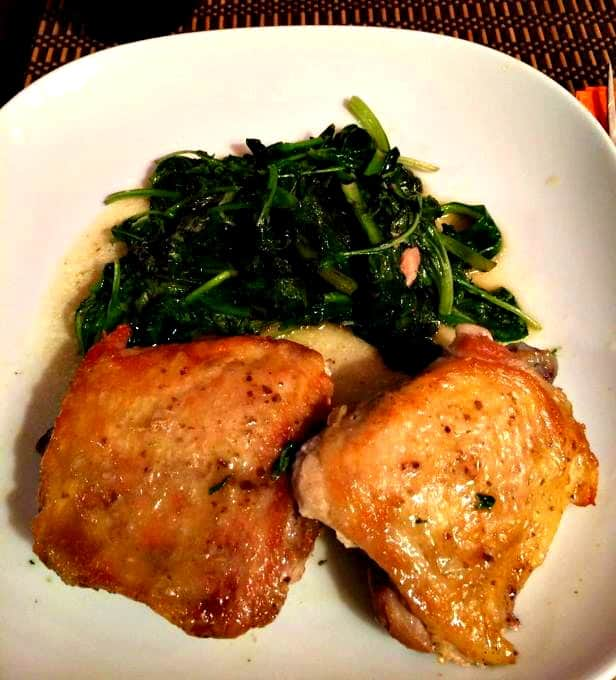 Dinners for the Lazy, Frugal Cook - Pan-fried Chicken Thighs