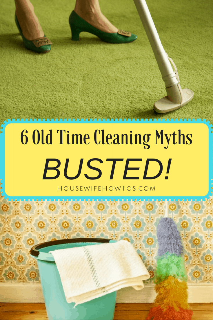 Still believe these 6 old time cleaning myths? They'll leave you with a dirtier home and, in some cases, can cause permanent damage to your belongings. Which ones have you fallen for?