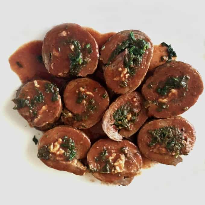 Round Steak Roulades for oven or Instant Pot