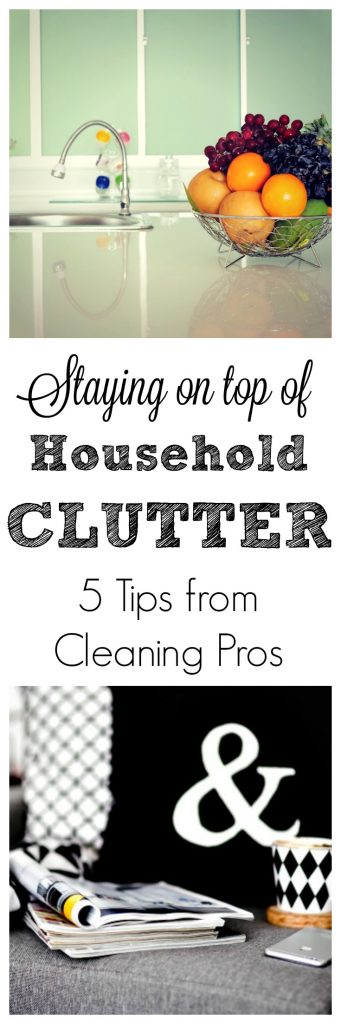 These are 5 great tips from cleaning professionals about staying on top of household clutter!