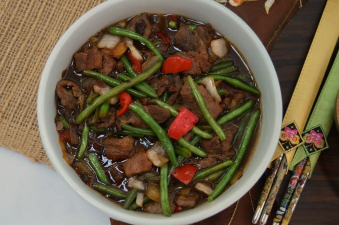 Enjoy a fast and easy Chinese dinner with P.F. Chang's Home Menu - The Mongolian Style Beef is a winner!
