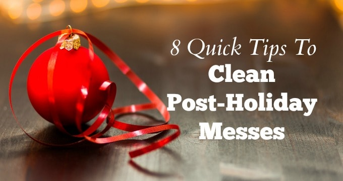 Handle the post-holiday cleanup with these easy tips