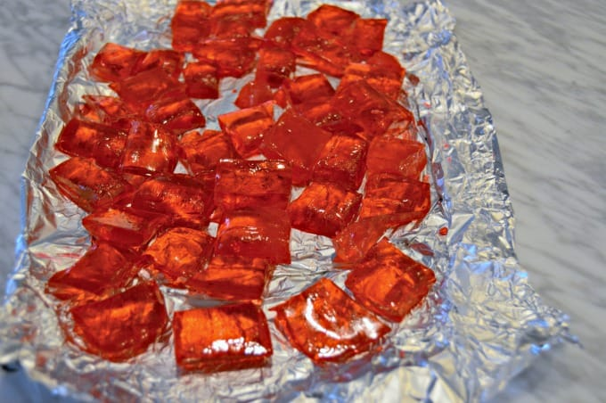 Holiday Hard Candy Recipe - Break the completely cooled candy into squares