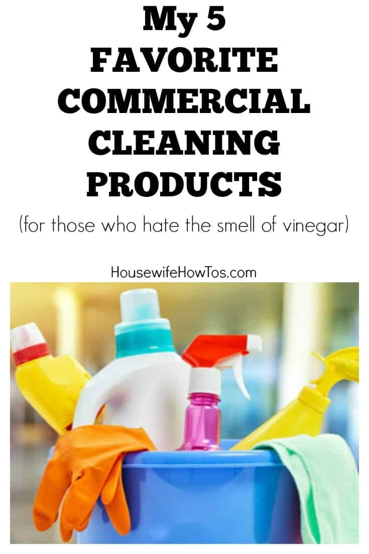Can't stand the smell of vinegar in homemade cleaning products? These commercial products are safe and do a fantastic job of cleaning, too.