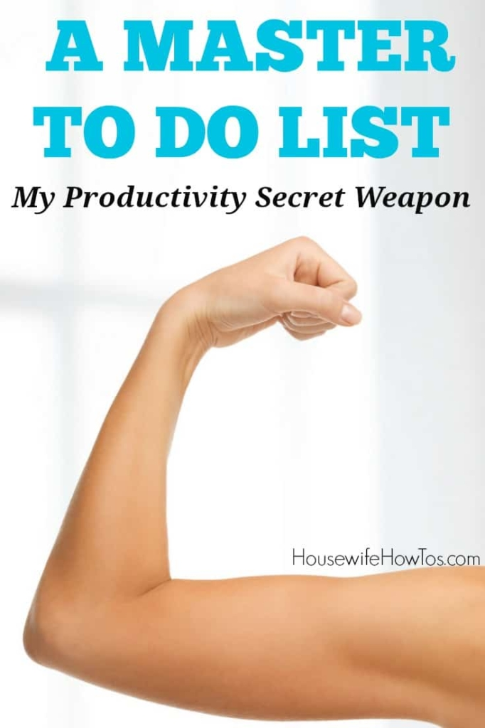 Master To Do List - This productivity tool keeps me on top of things without keeping me awake at night #productivity #timemanagement #todolist