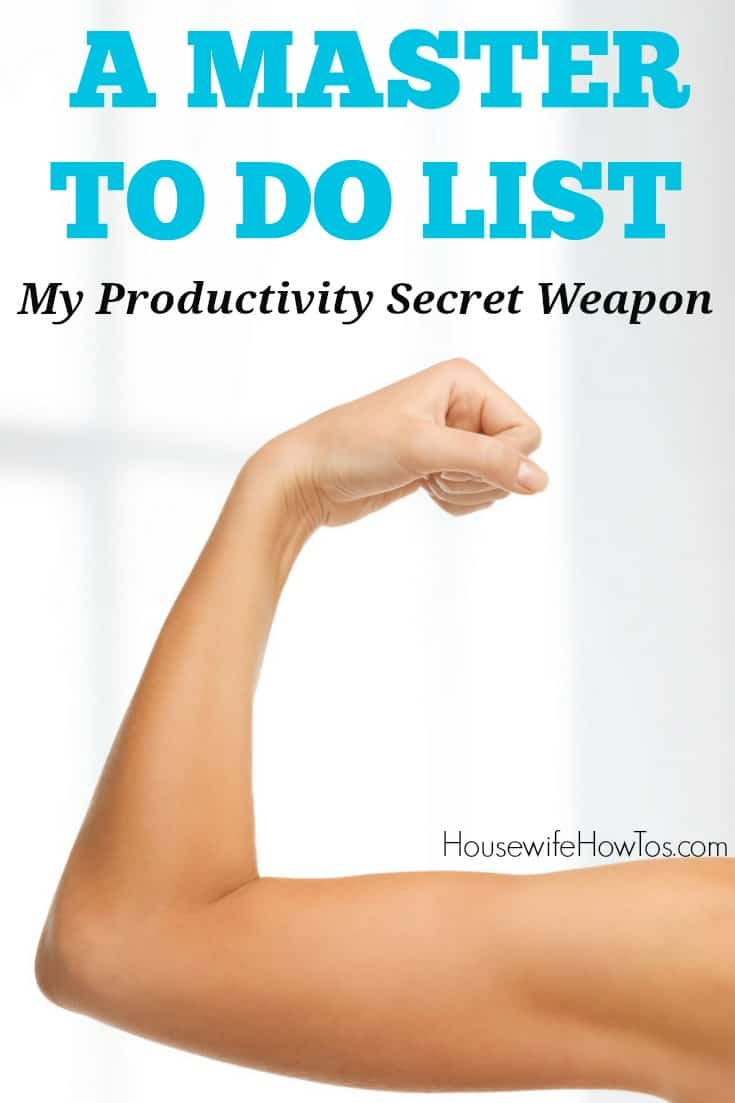 Master To Do List - This productivity tool keeps me on top of things without keeping me awake at night