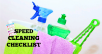Speed Cleaning Checklist