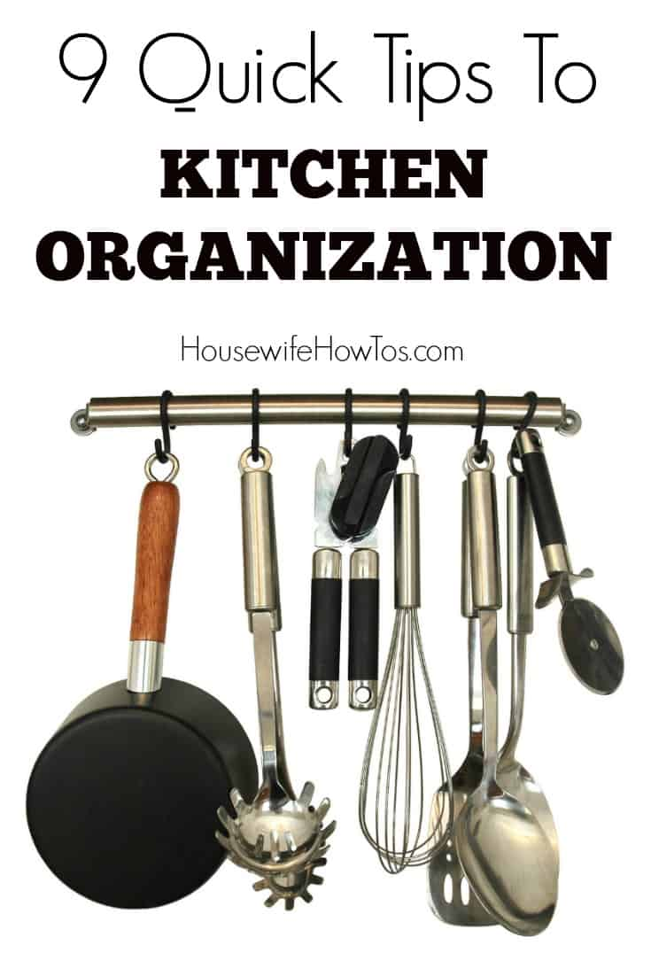 Tips on Kitchen Organization - Great advice on decluttering the kitchen and making it more efficient