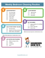 Weekly Bedroom Cleaning Checklist