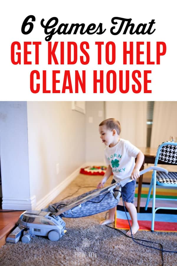 6 Games That Get Kids to Help Clean House