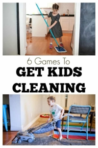 Games to Get Kids Cleaning - My kids and I loved playing these games together and I loved having their help around the house #kidschores #chores #games #cleaning