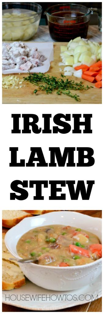 Irish Lamb Stew - Made on the stovetop or in the crockpot, this is so good! #stew #lamb #crockpotrecipe #crockpot #slowcooker #dinner #stpatricks #stpatricksday #irishlambstew