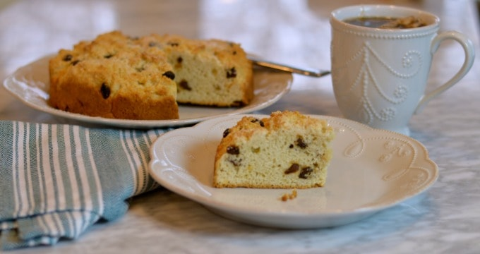 Irish Tea Cake - Irish Soda Bread with Raisins
