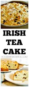 Irish Tea Cake - Sugar-topped, delicious tea cake studded with raisins and baked until golden brown #irishteacake #teacake #cake #dessert #baking #bread #stpatricks #stpatricksday