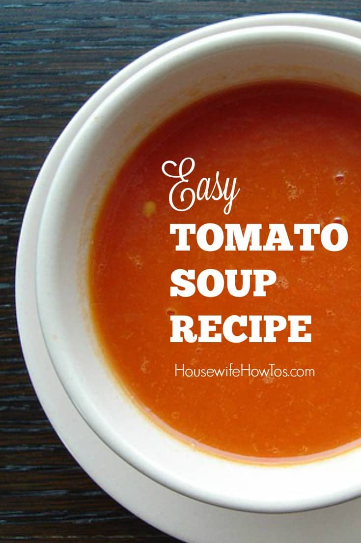 This easy tomato soup recipe is perfect for chilly days and freezes well so you can have a bowl any time.