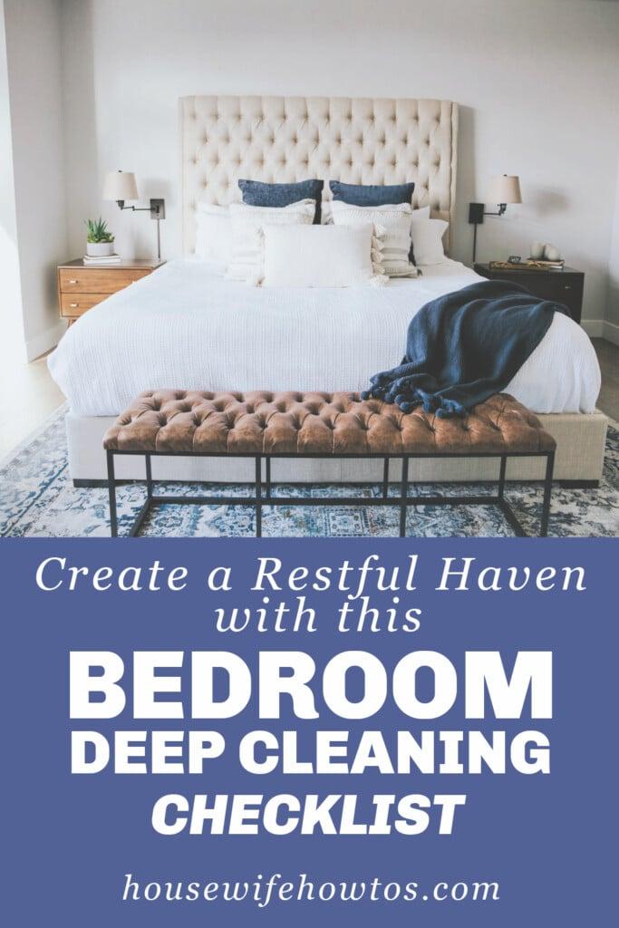 Bedroom Deep Cleaning Checklist