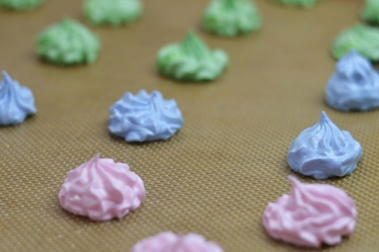 Easy Meringue Cookie Recipe - Pipe them onto greased baking sheets