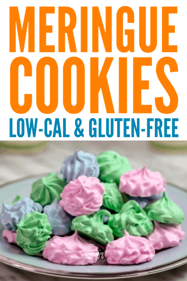 Easy Meringue Cookies - Low calorie and gluten-free treats #cookies #meringues #lowcalorie #glutenfree