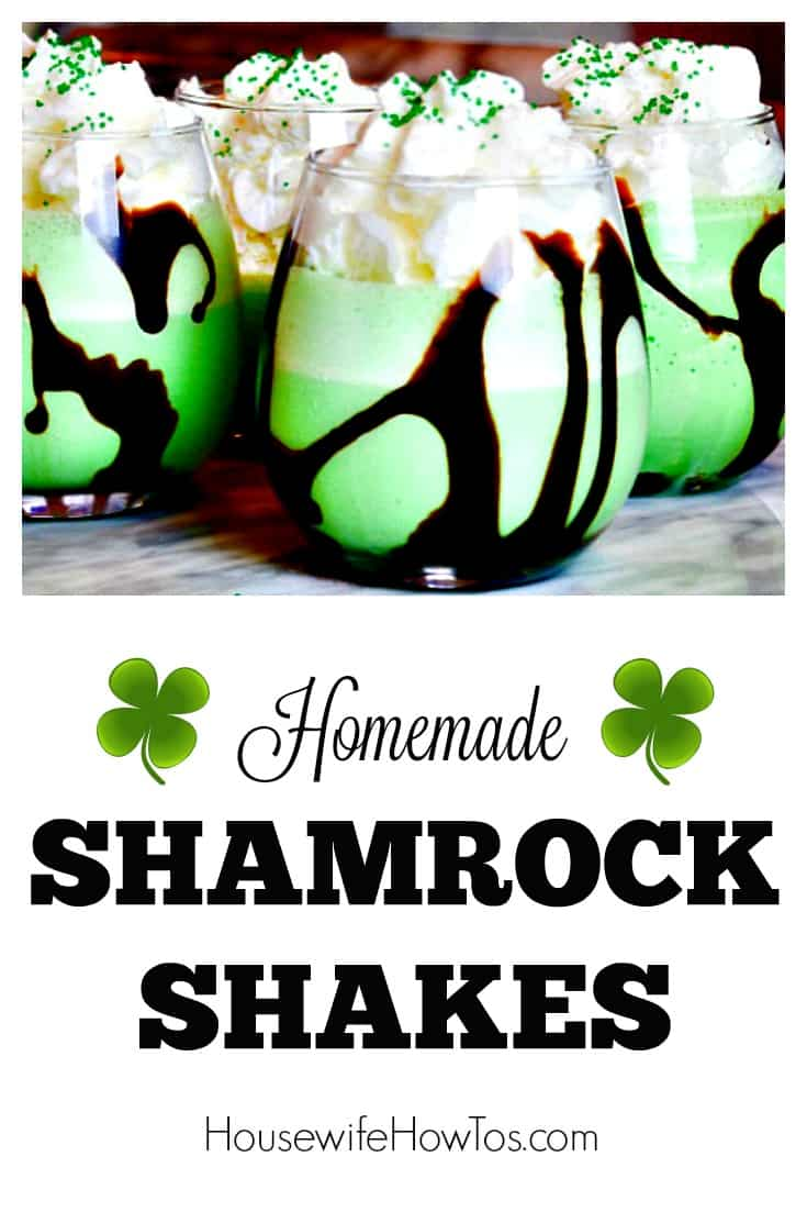 Homemade Shamrock Shakes - So yummy and easy to make. There's even a boozy version of the recipe for grownups!