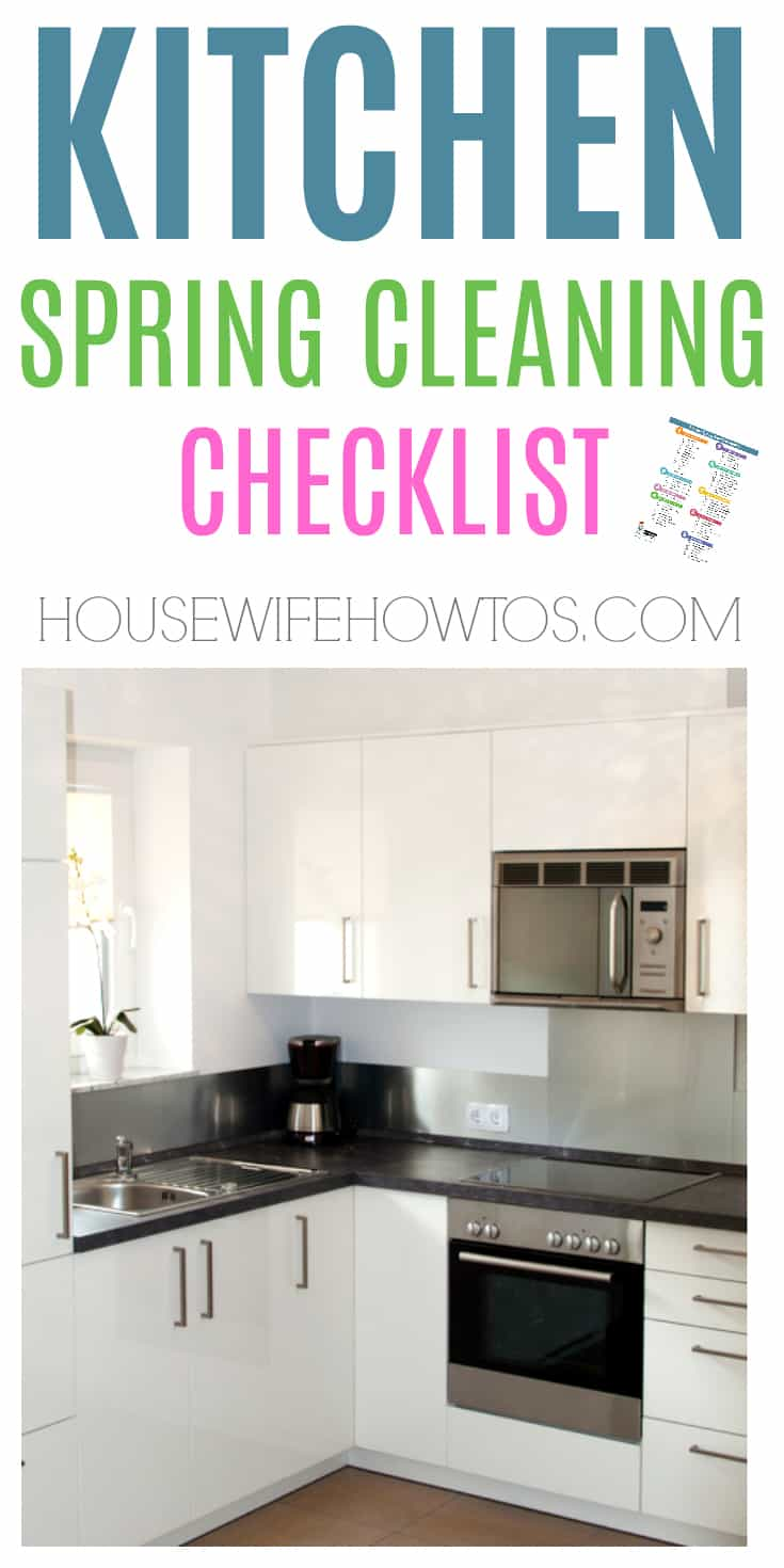 Kitchen Spring Cleaning Checklist - So easy to follow #cleaningchecklist #springcleaning #deepcleaning #cleaning #cleaningroutine