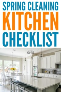 Kitchen Spring Cleaning Checklist -- This one covers everything! #springcleaning #kitchencleaning #cleaningchecklist #housewifehowtos #deepcleaning