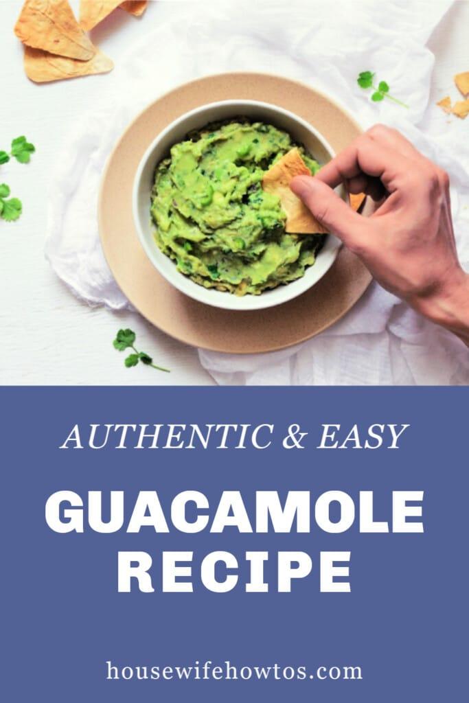 Authentic Easy Guacamole Recipe