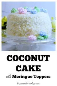 Coconut Cake Recipe with Meringue Toppers