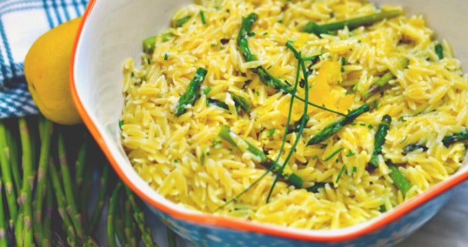 Lemon Asparagus Orzo - An easy Spring side dish
